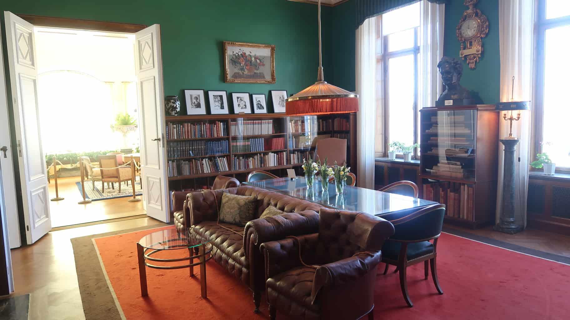 The library at Waldermarsudde.