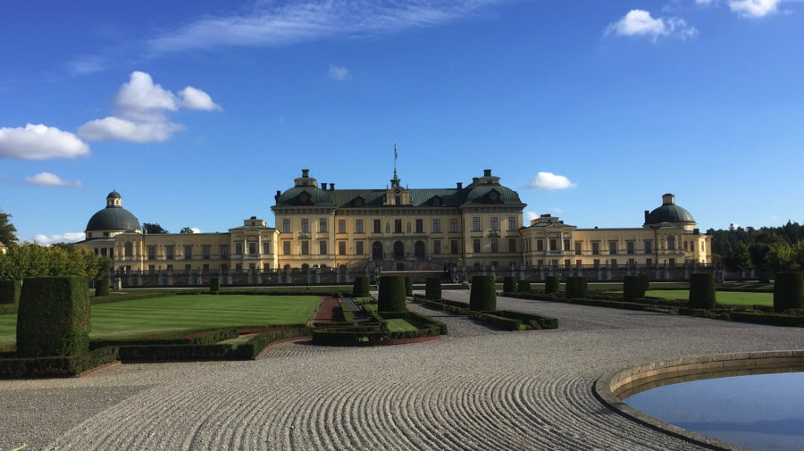 Drottningholm Palace from the garden