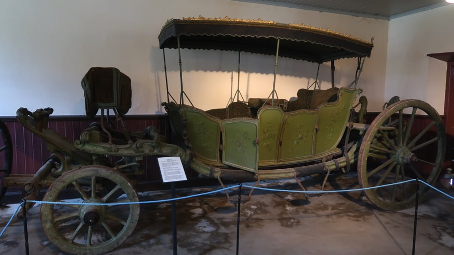 An old wagon at Lövstabruk