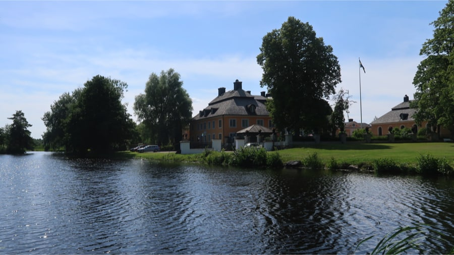 Österbybruk from the lake