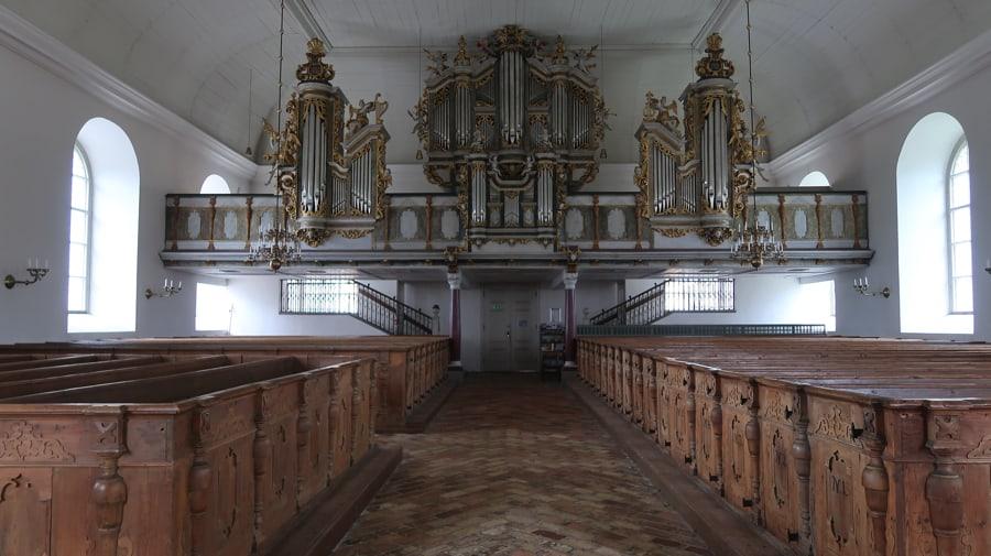 The organ at the church at Lövstabruk
